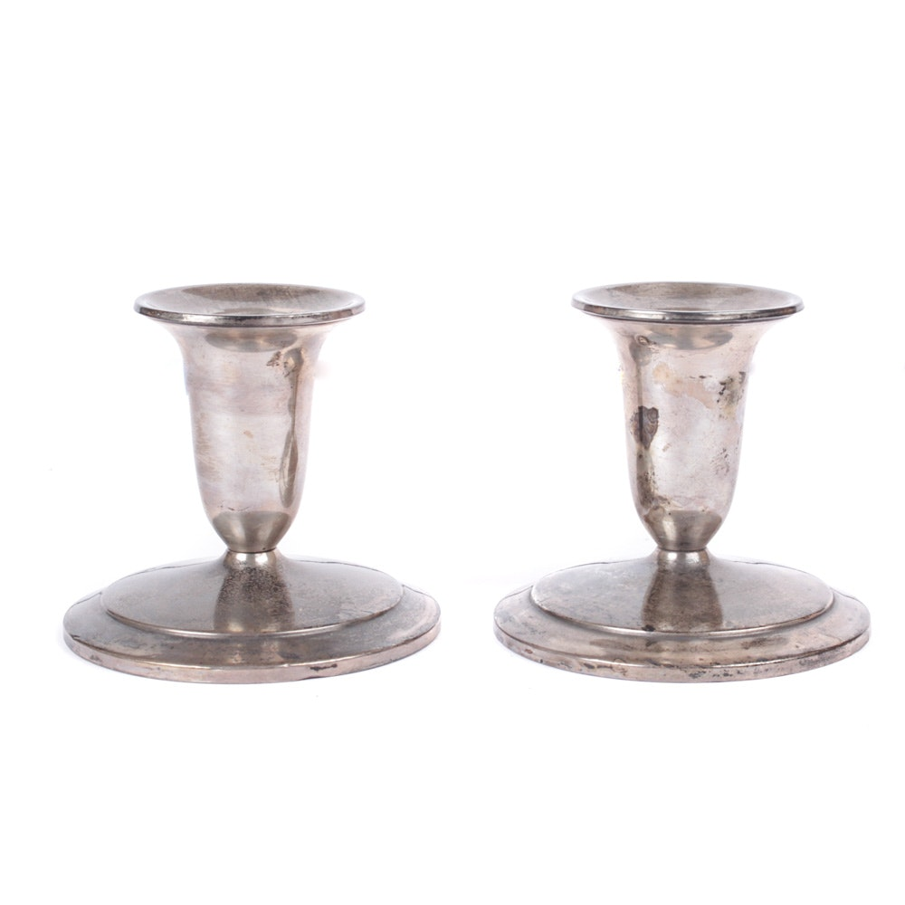 Vintage N.S. Co. Weighted Sterling Silver Candlesticks