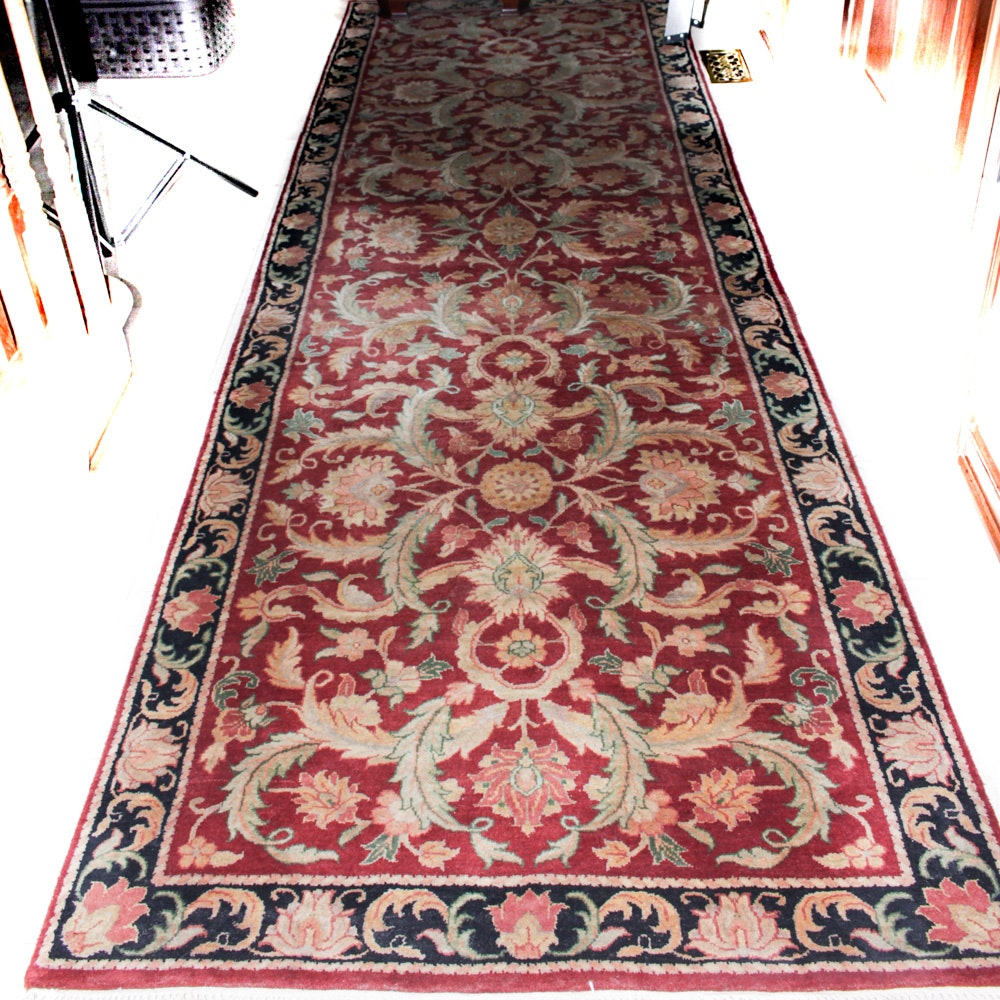 Hand Knotted Persian Inspired Carpet Runner
