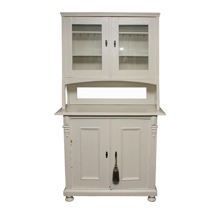 White Painted Kitchen Hutch