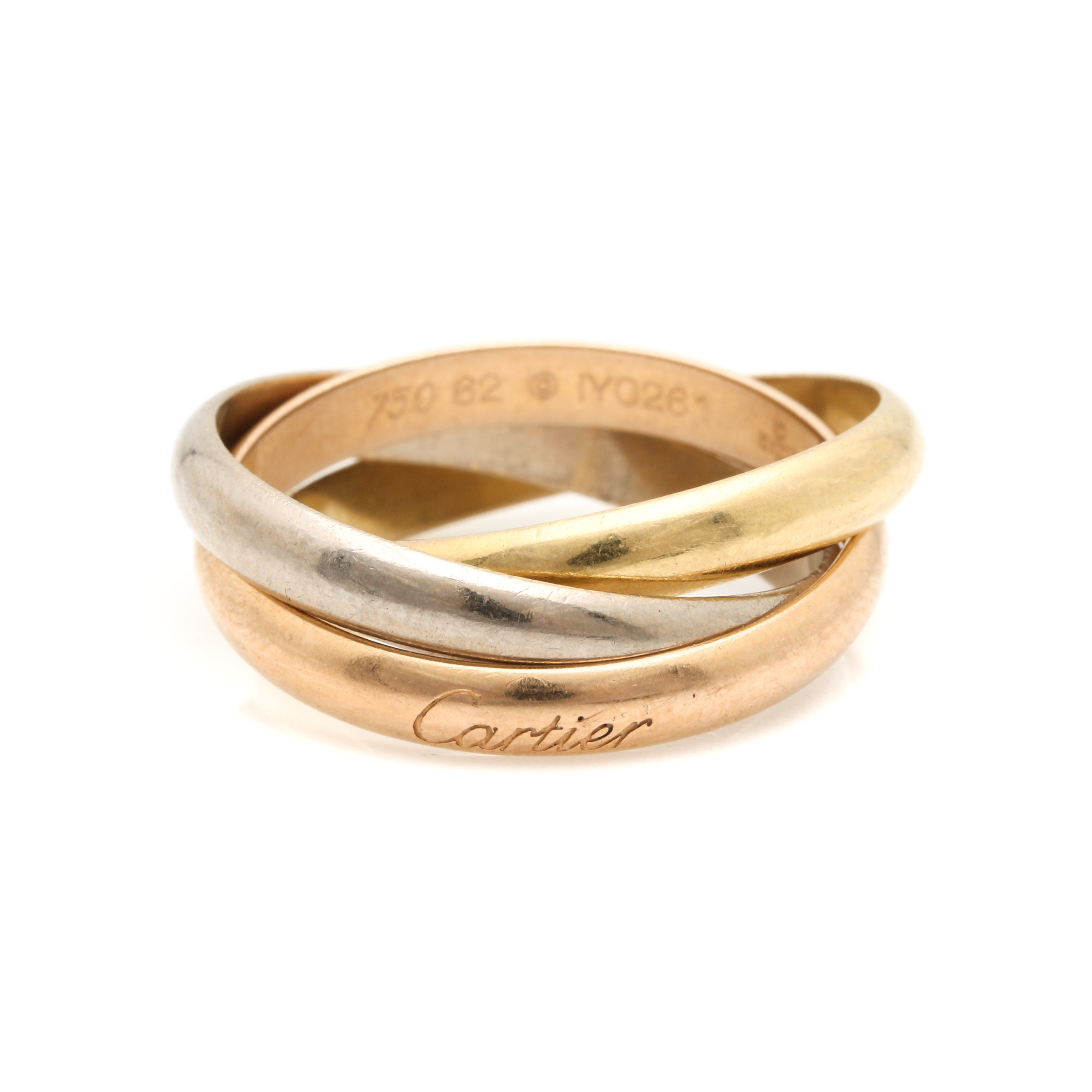 """Trinity De Cartier"" Tri Gold Rolling Ring"