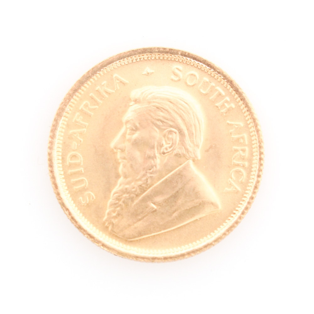 22K Yellow Gold 1981  Krugerrand South African Mint Coin