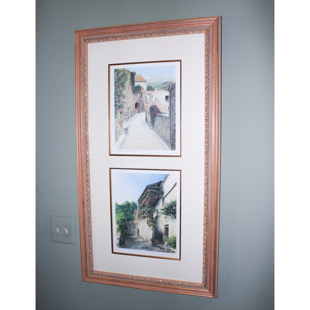 Framed Tuscan Themed Offset Lithograph Prints
