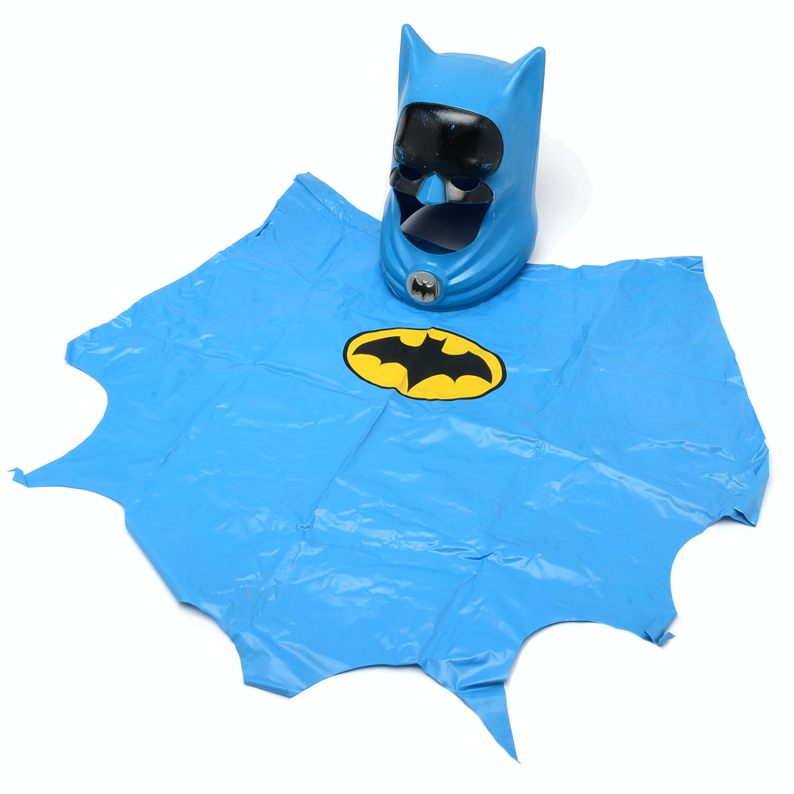 1966 Ideal Toys Batman Cowl Mask and Cape