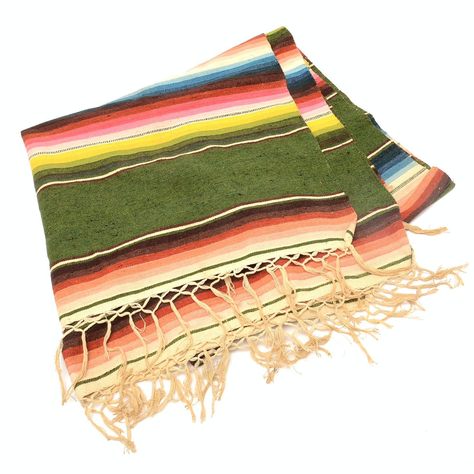 Vintage Mexican Sarape Blanket