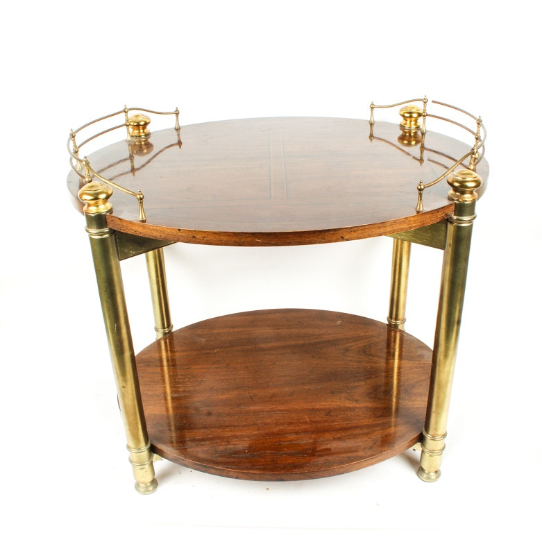 Two-Tiered Oval Side Table