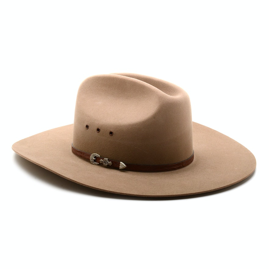 8d24c9400857bc Beige Stetson 4X Beaver Cowboy Hat : EBTH