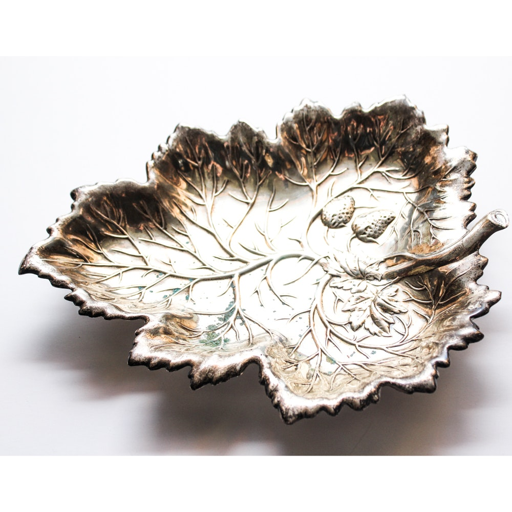 Wallace Sterling Silver Foliate Dish