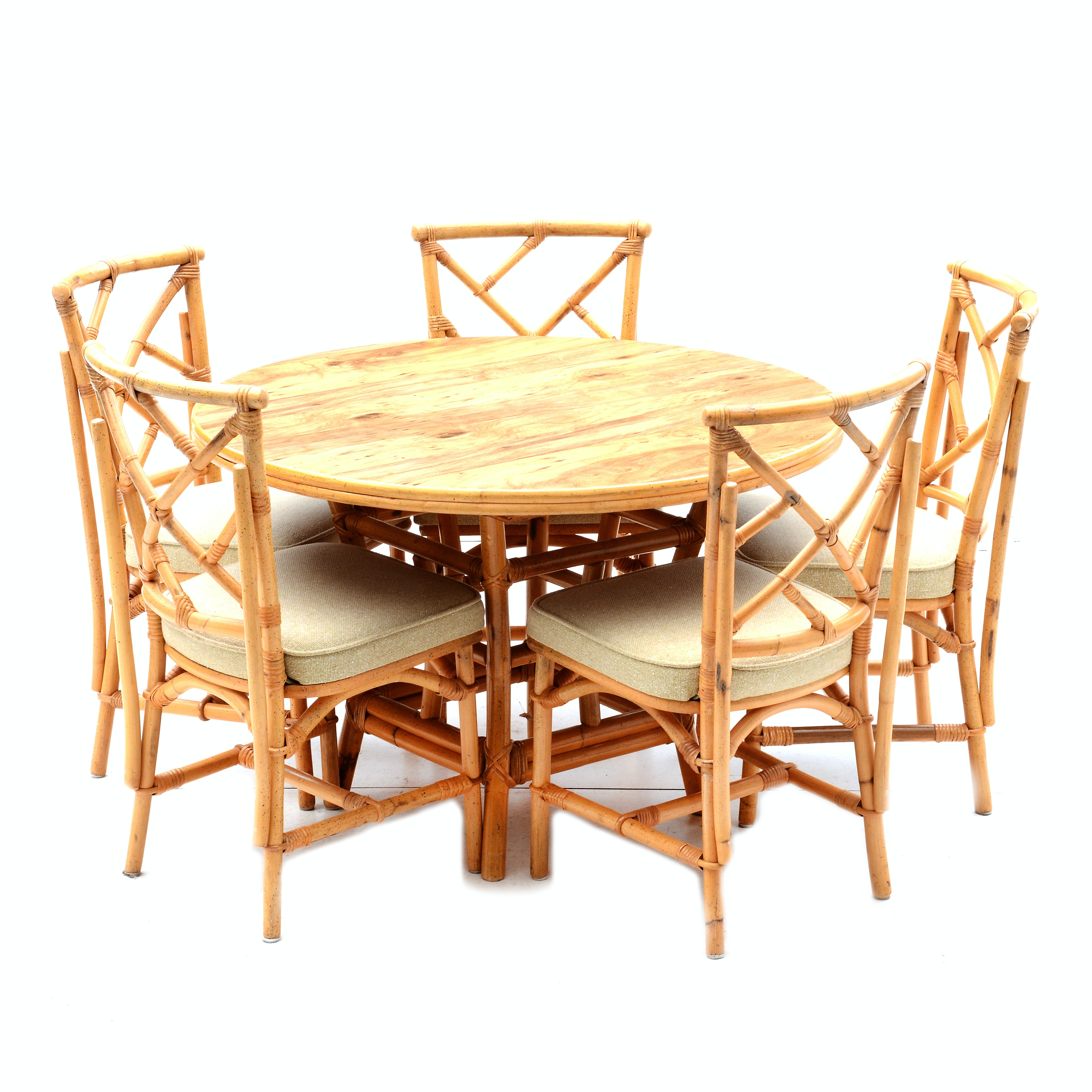 Bamboo Table and Chairs Set
