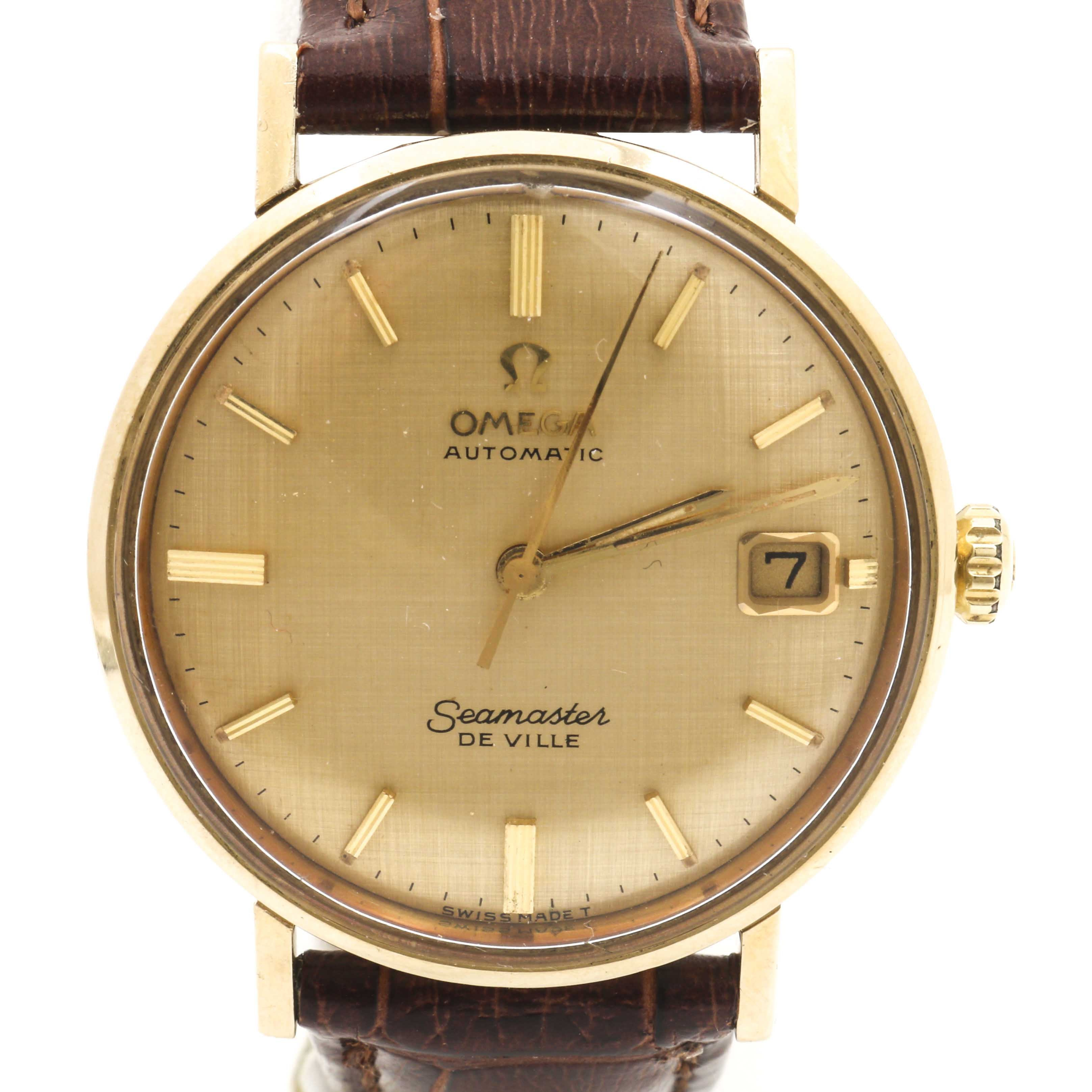 "Omega 14K Yellow Gold ""Seamaster De Ville"" Wristwatch"