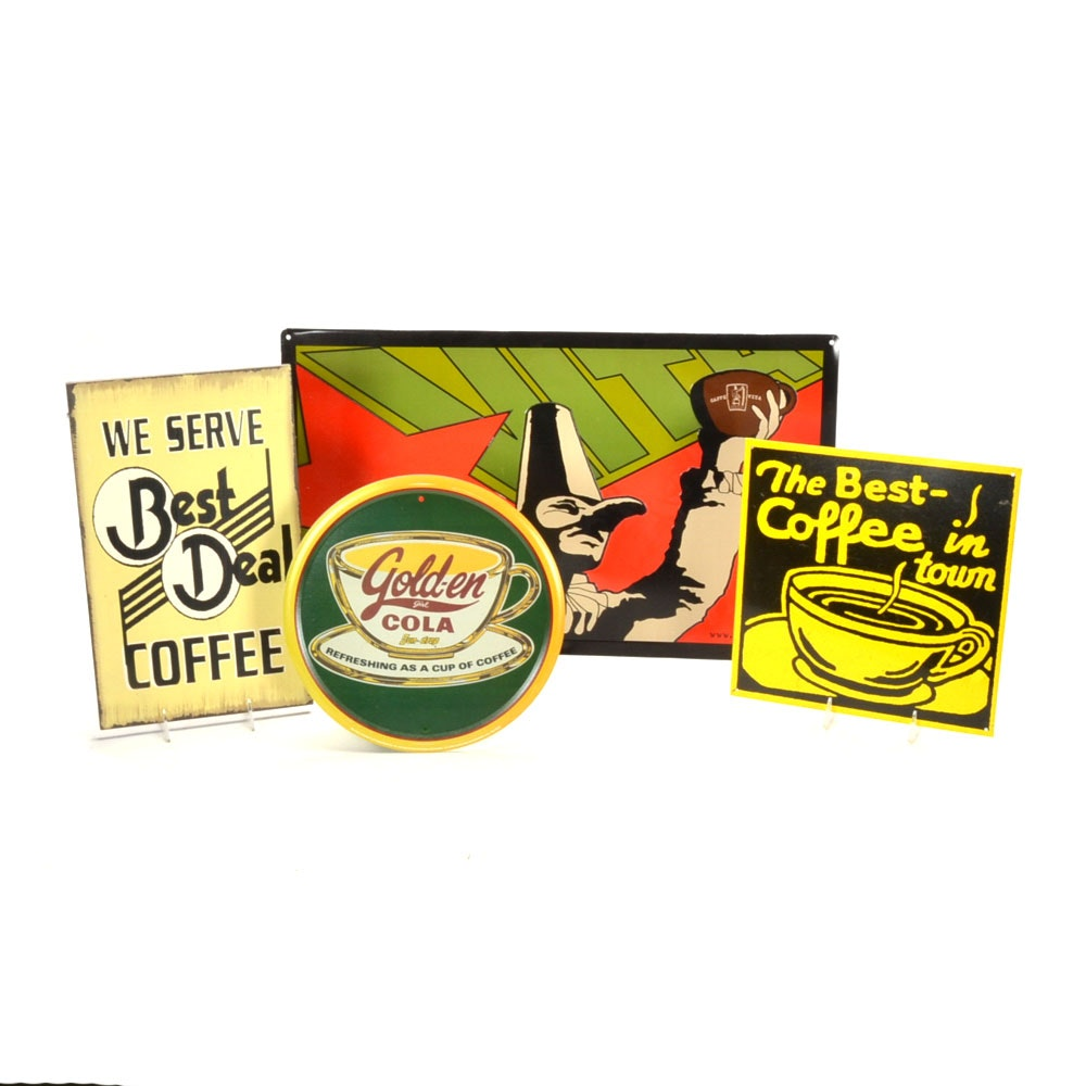 Coffee and Soda Decorative Signs