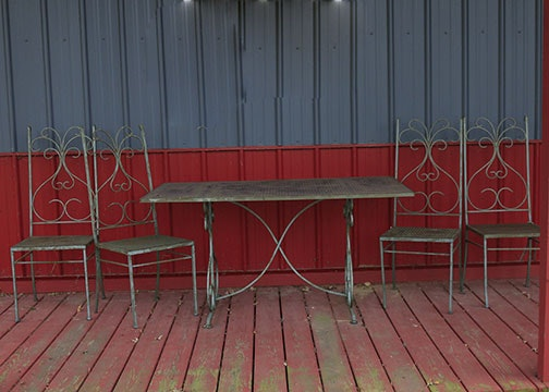 Wrought Iron Outdoor Dining Set