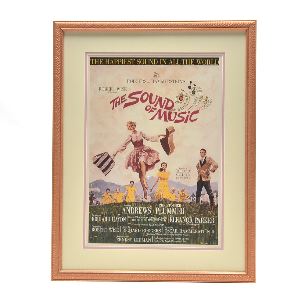 """Offset Lithograph Reproduction Movie Poster """"The Sound of Music"""""""