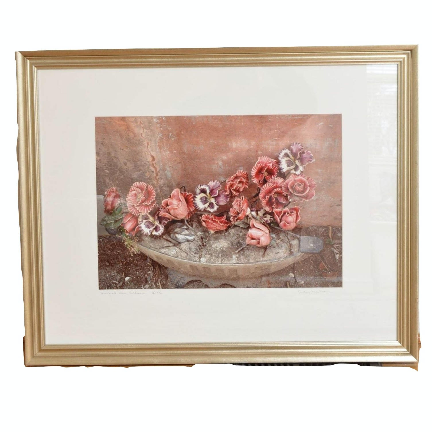 """Betsy McKean Offset Lithograph """"Funeral Urn, Collioure"""""""