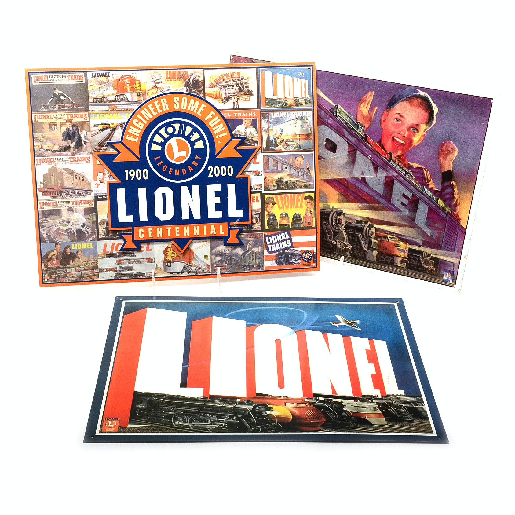 Lionel Reproduction Metal Advertising Signs
