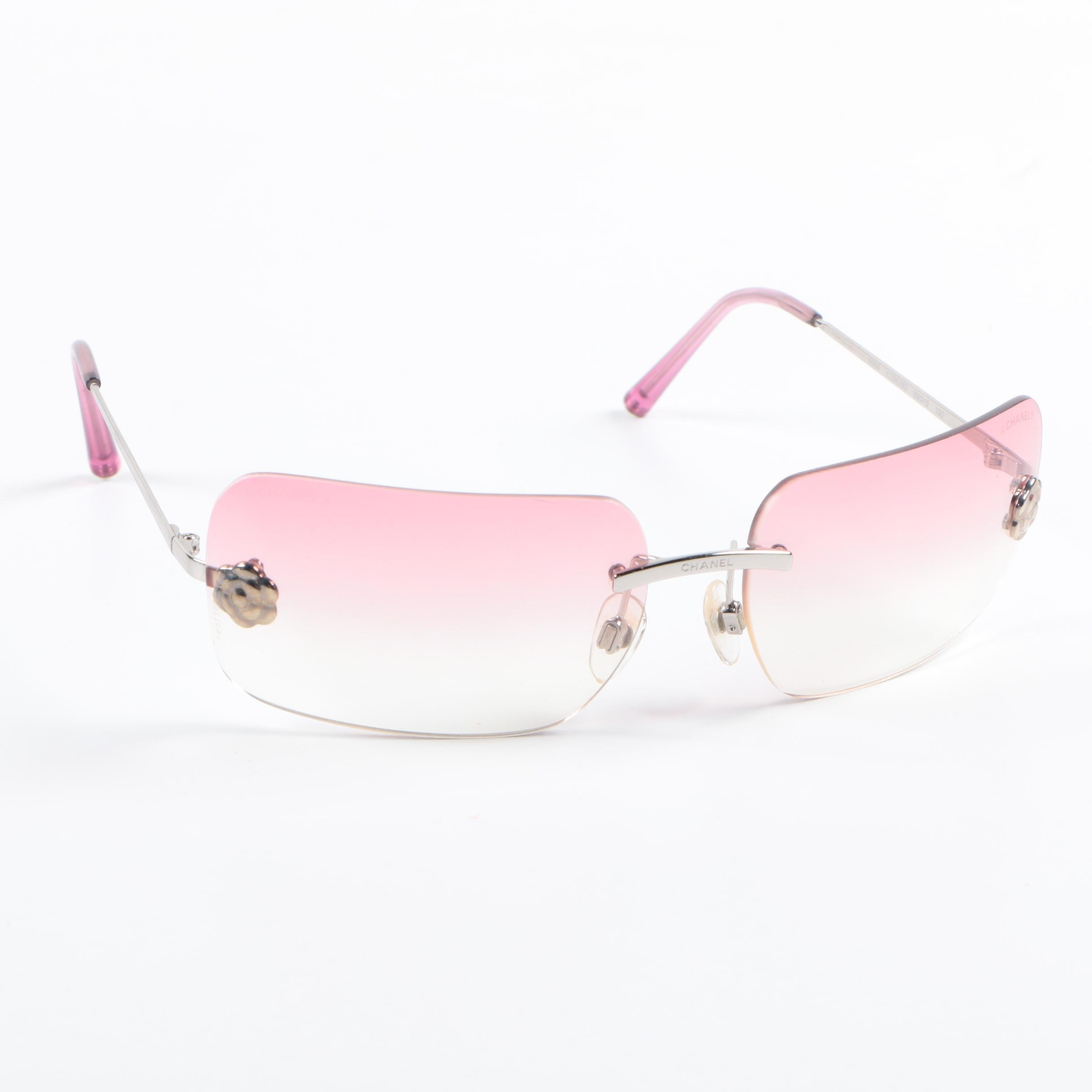 Vintage Chanel 4085 Camelia Flower Sunglasses