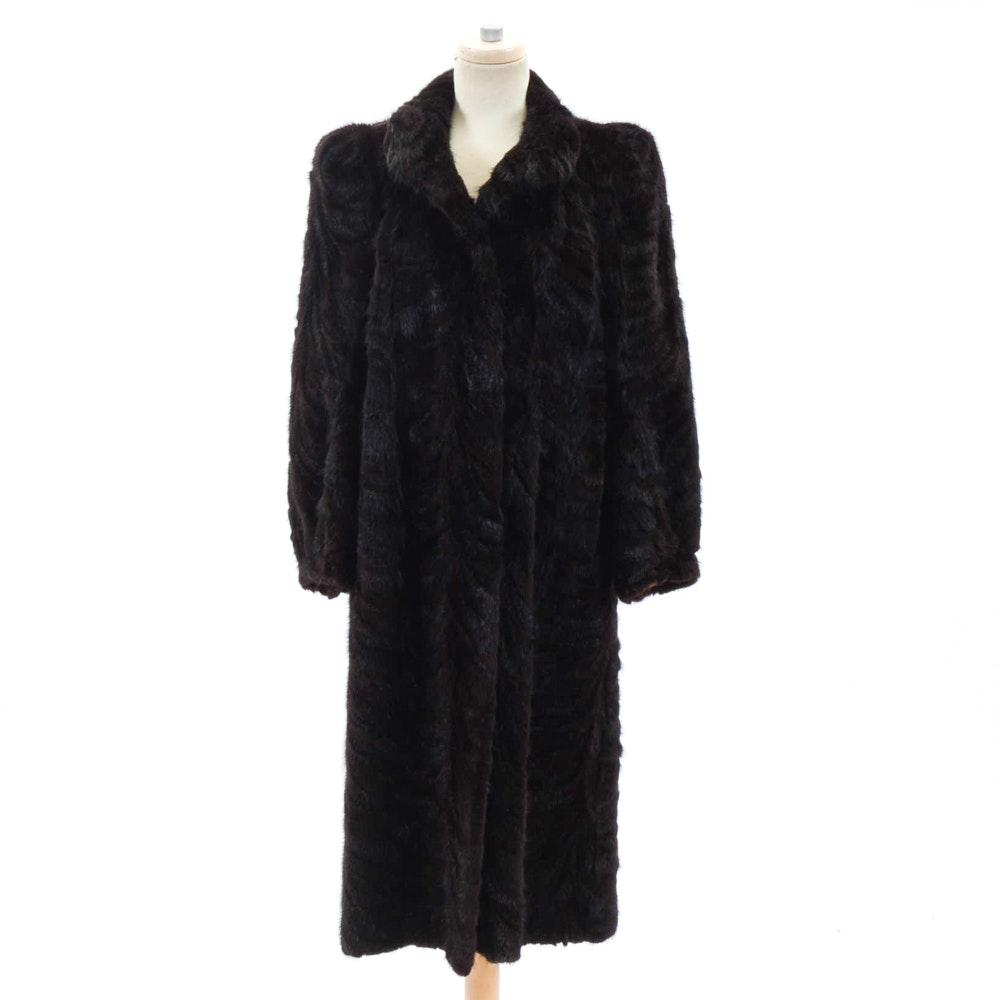 Vintage Donefeld's Black Mink Fur Coat