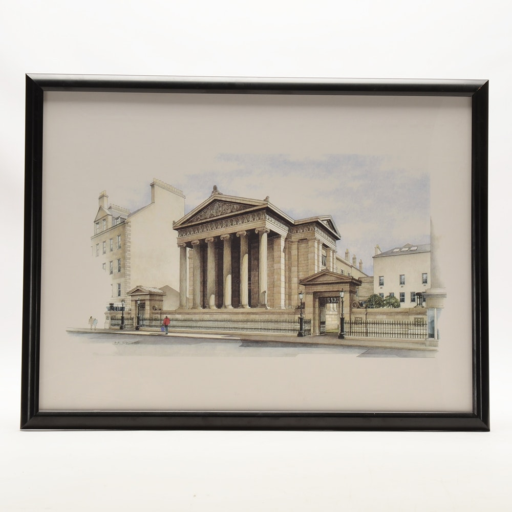 Giclee of Bil Fulton Architectural Illustration