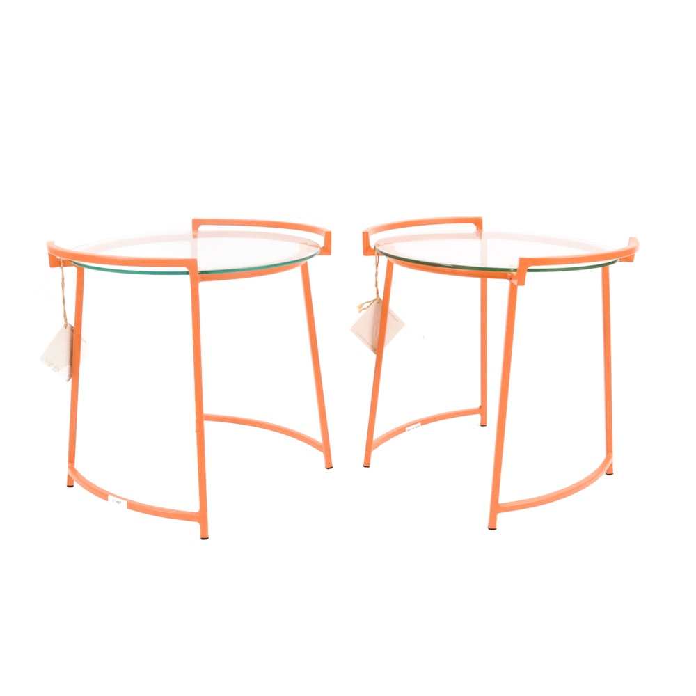 "Contemporary Modern Ballard Designs ""Bon Bon"" Side Tables"