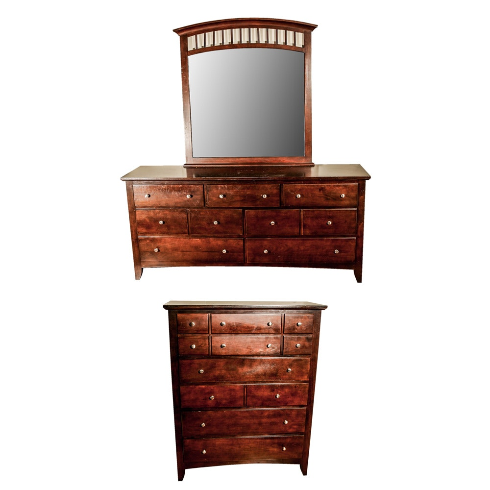 Matching Dresser with Mirror and Chest of Drawers