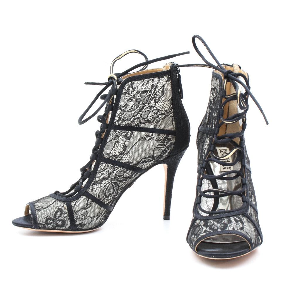 Badgley Mischka Lace Up Boots