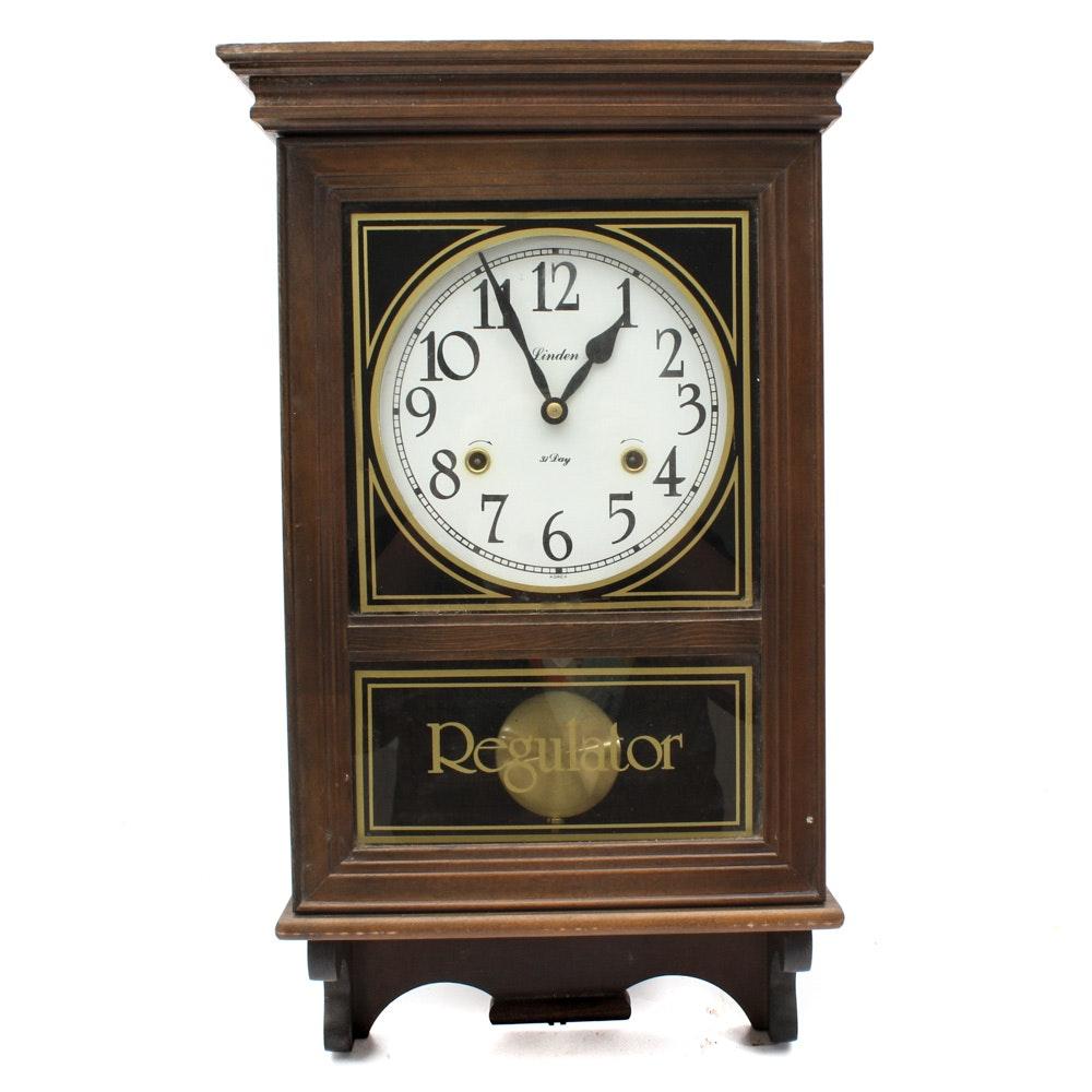 Linden 31 Day Regulator Wall Clock