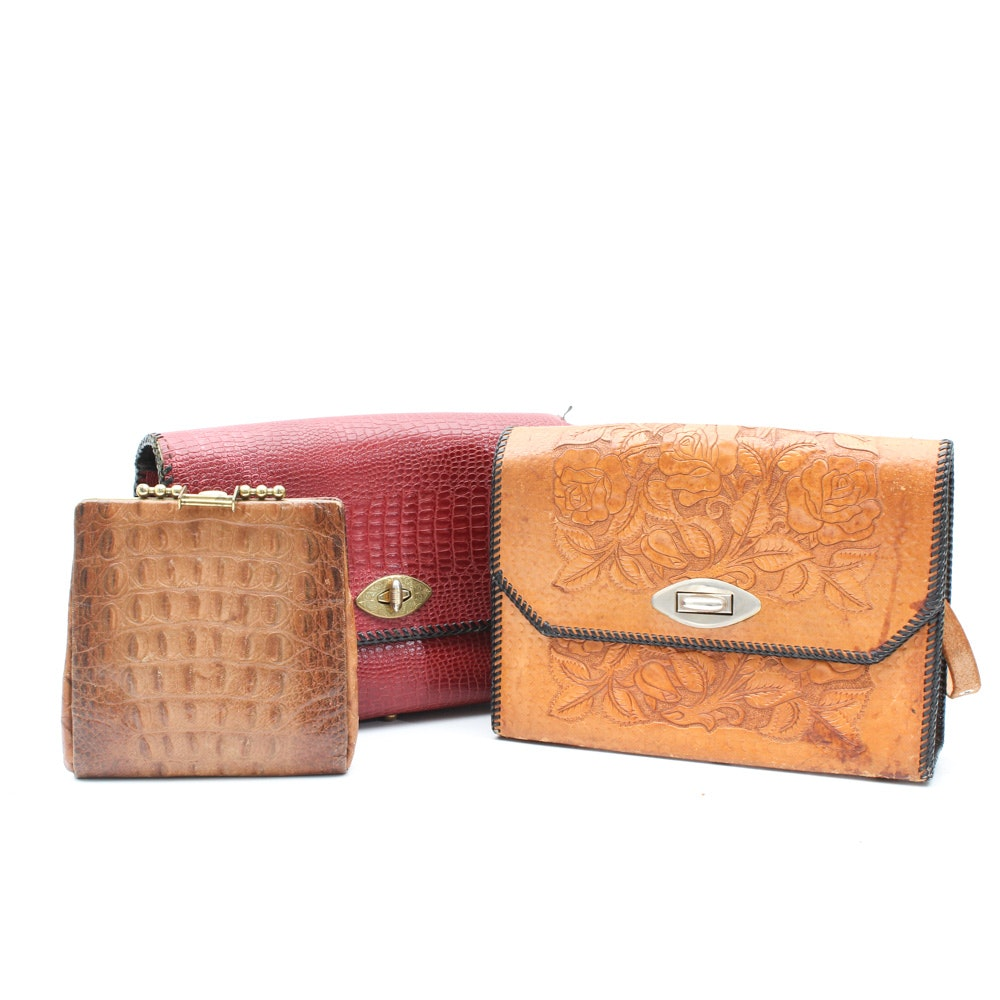 Trio of Leather Handbags