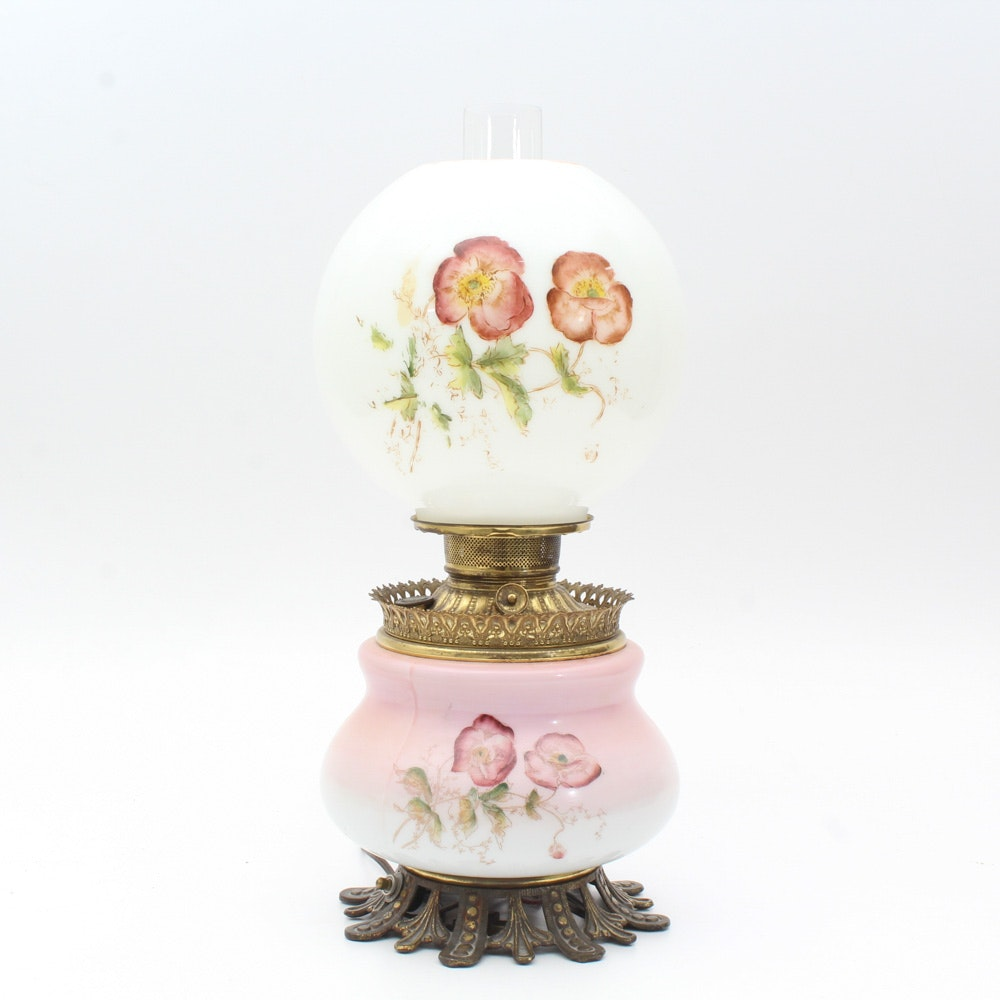 Electrified Milk Glass Lamp