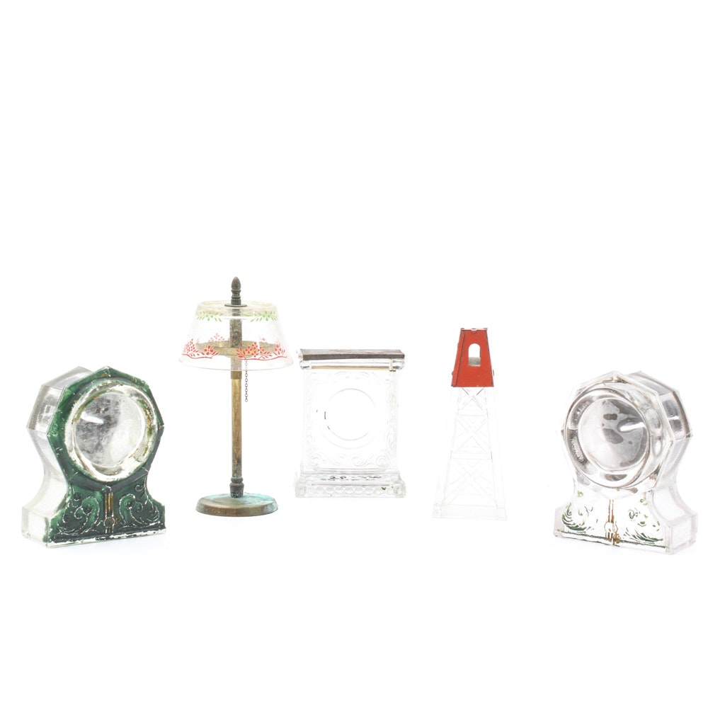 Vintage Pressed Glass Figural Candy Containers