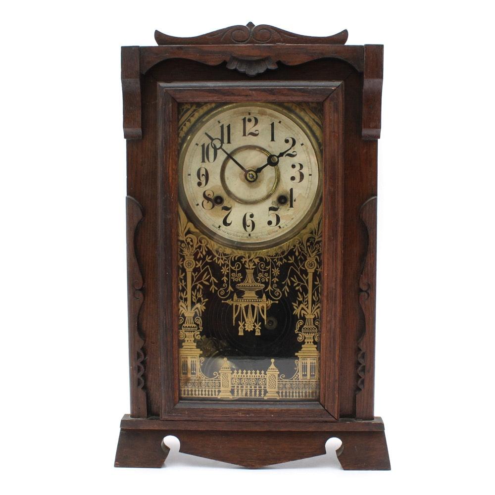 Eastlake Style New Haven Mantel Clock