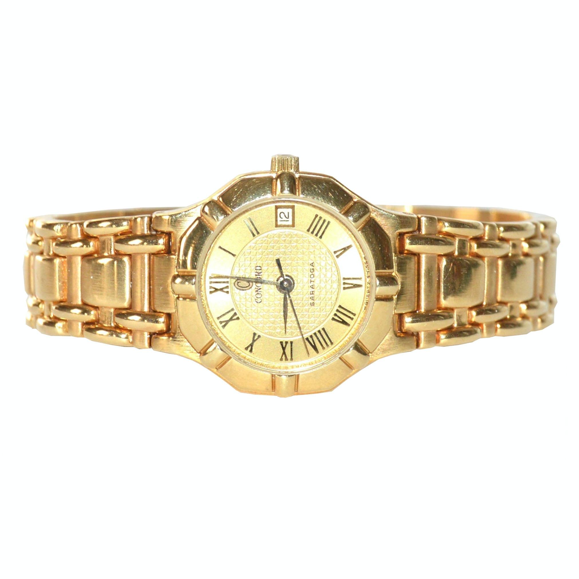 Concord 18K Gold Saratoga Wristwatch