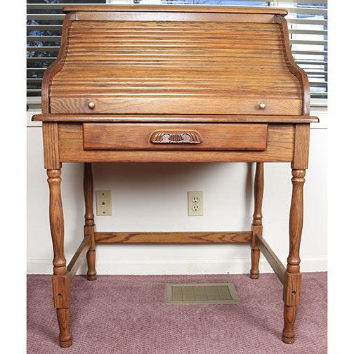 Secretary Style Oak Desk