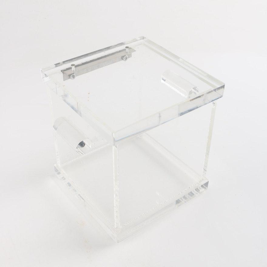 Clear Acrylic Box With Hinged Lid Ebth