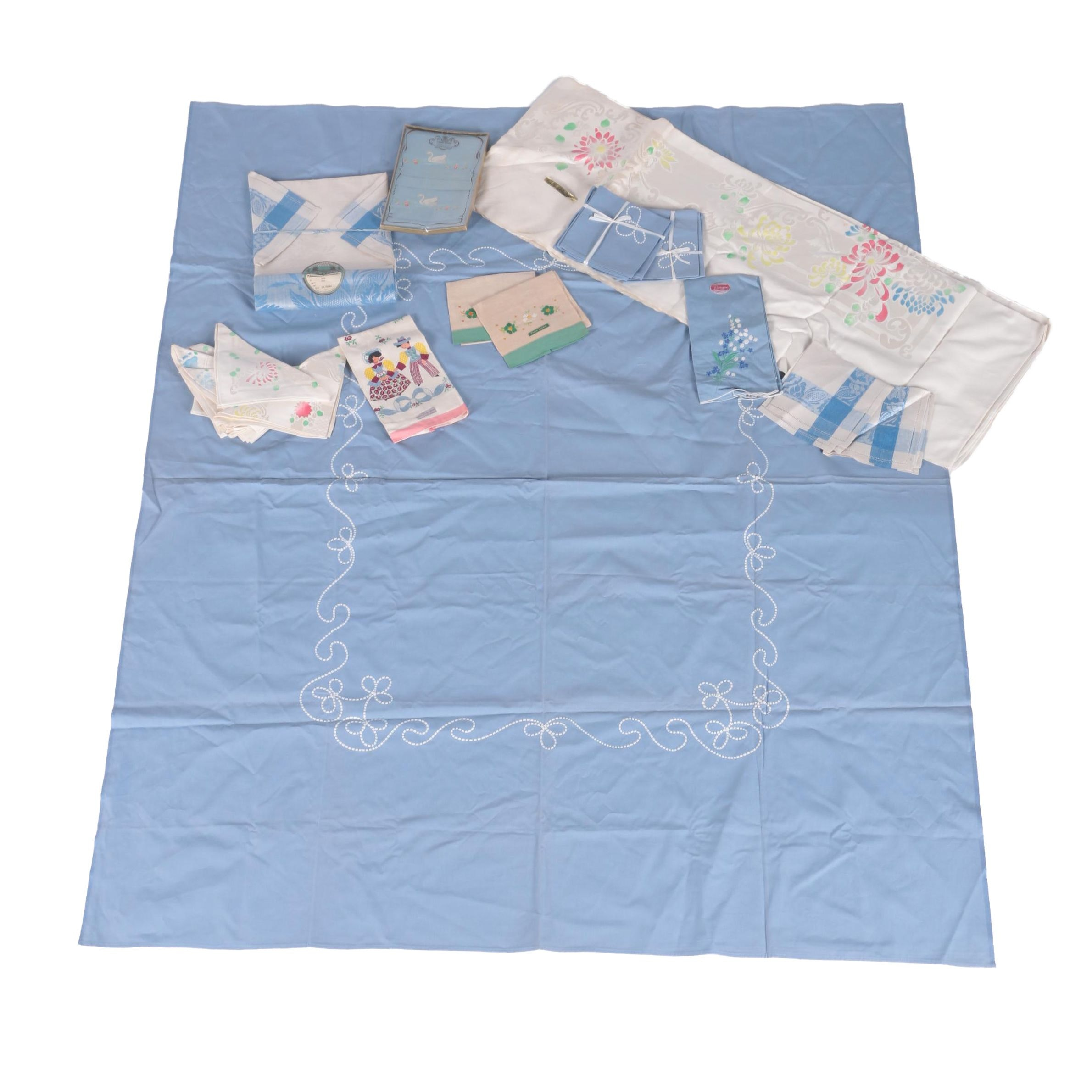 Vintage Embroidered Linens