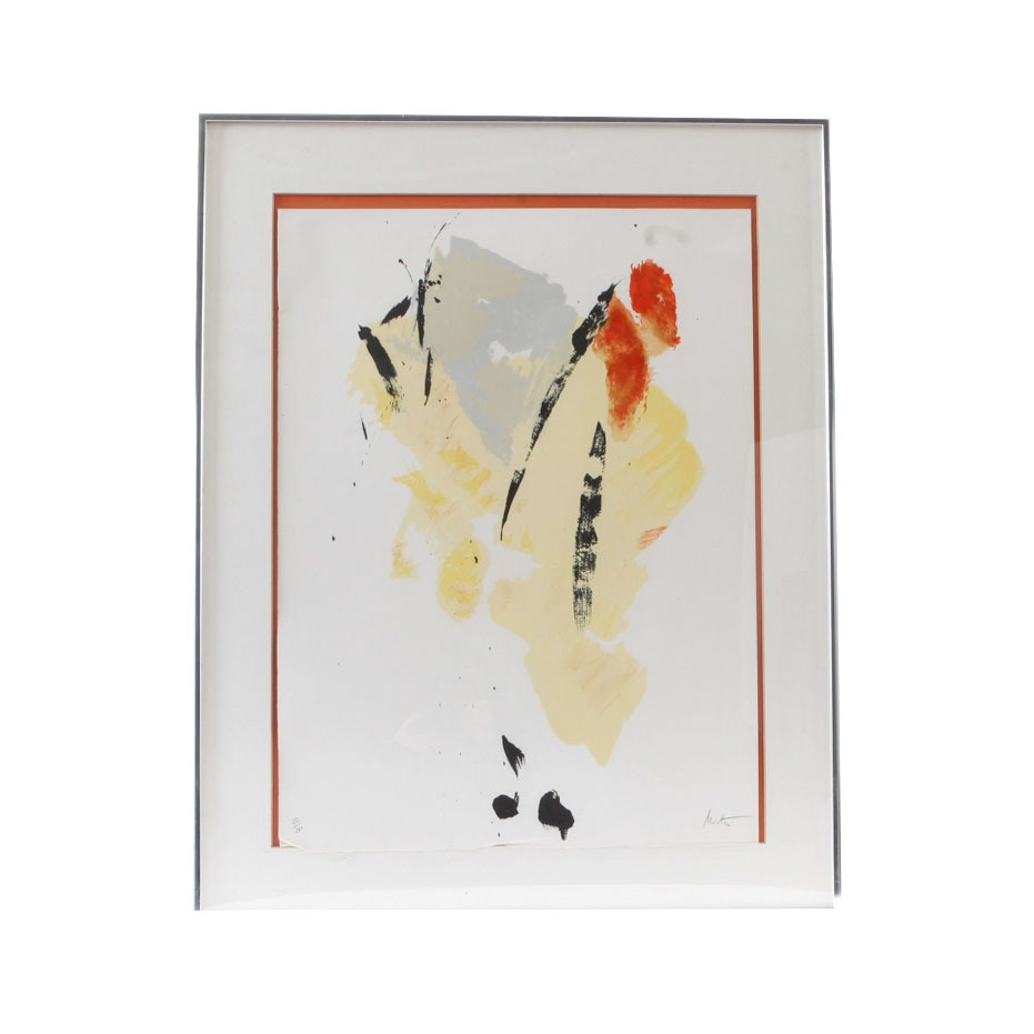 Signed Limited Edition Abstract Serigraph