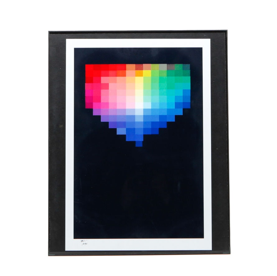 "Robert Lackney Signed Giclee ""Color Solid 127 Hues"""