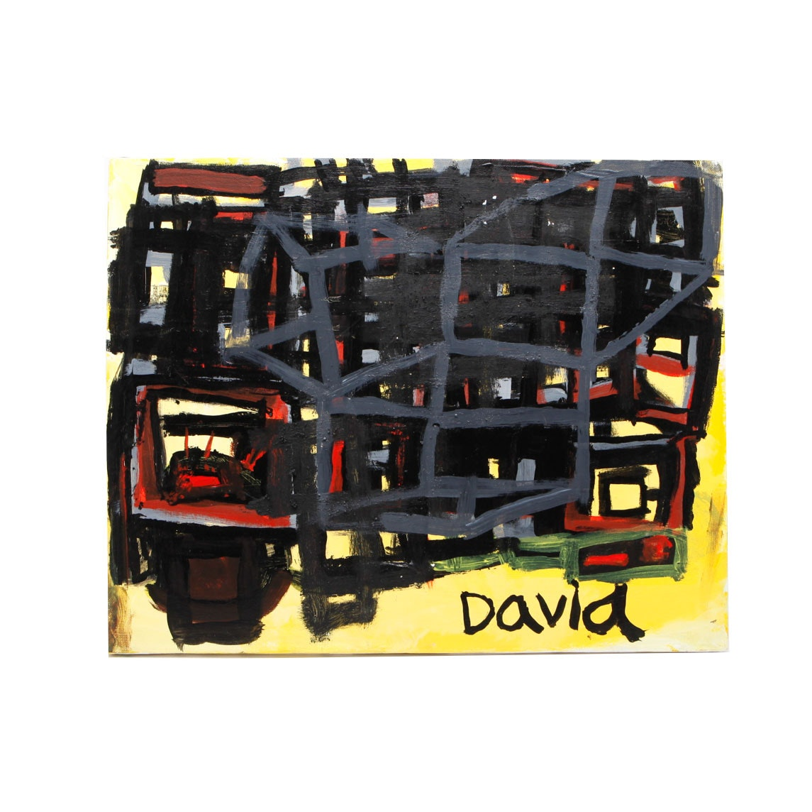 David Gossard Original Mixed Media Painting on Canvas