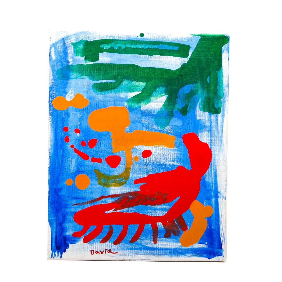 David Gossard Original Acrylic Painting on Canvas