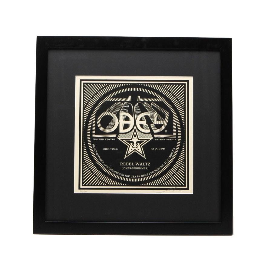 Shepard Fairey Signed Limited Edition Offset Print 'Rebel Waltz'