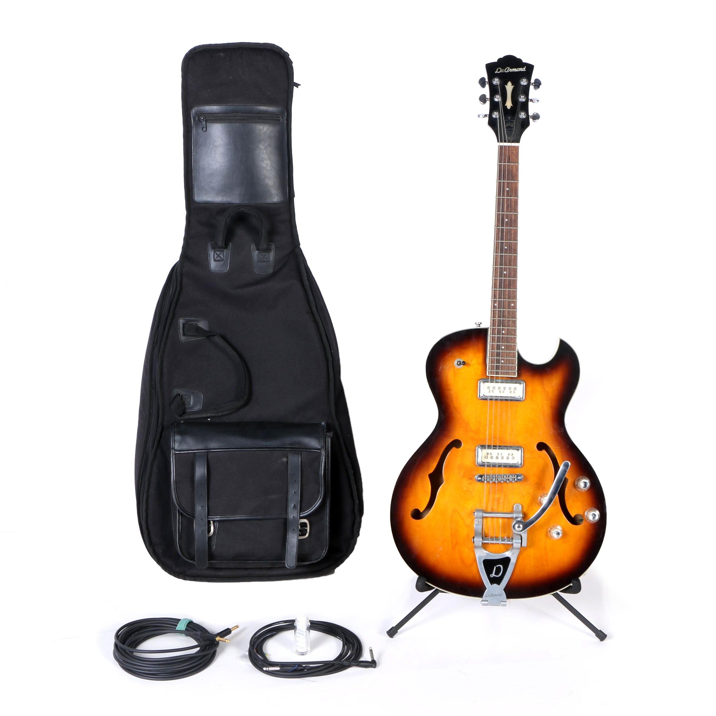 Guild DeArmond Starfire Semi-Hollow Body Electric Guitar and Accessories