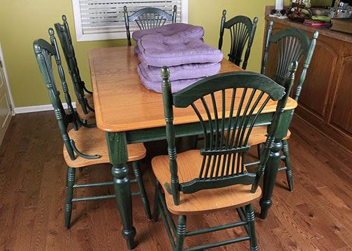 Farmhouse Style Oak Dining Set