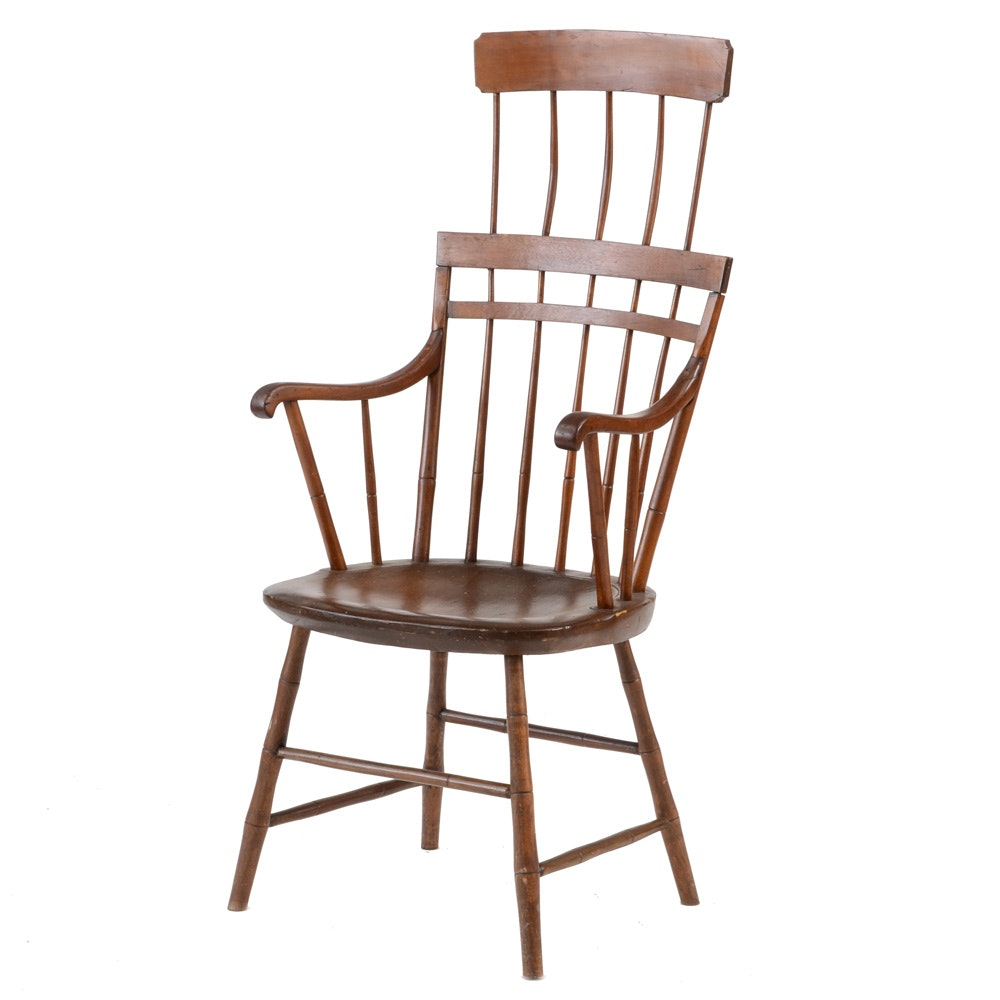 Antique Windsor Comb-Back Arm Chair