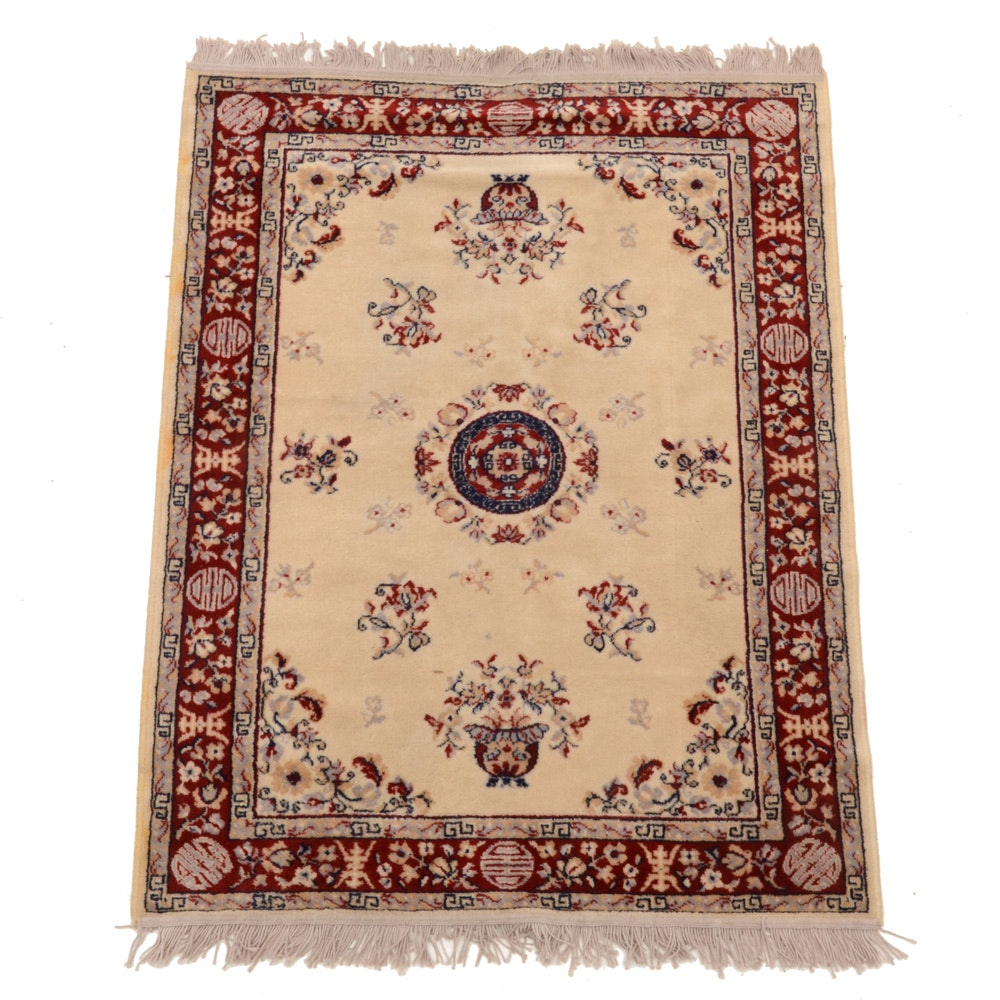 Machine-Made Chinese Style Wool Accent Rug by Casablanca