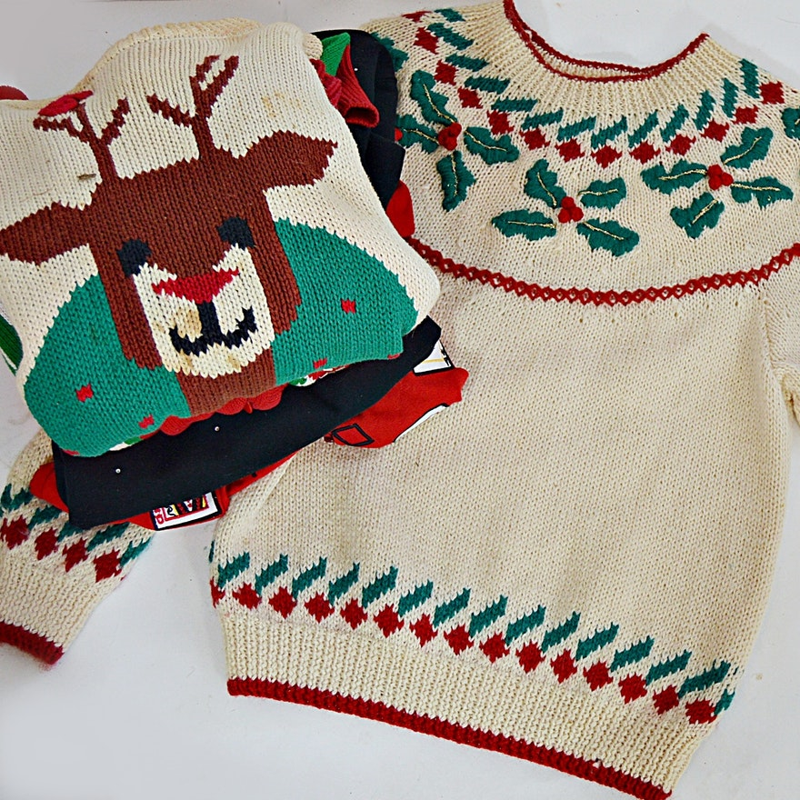 vintage christmas sweaters