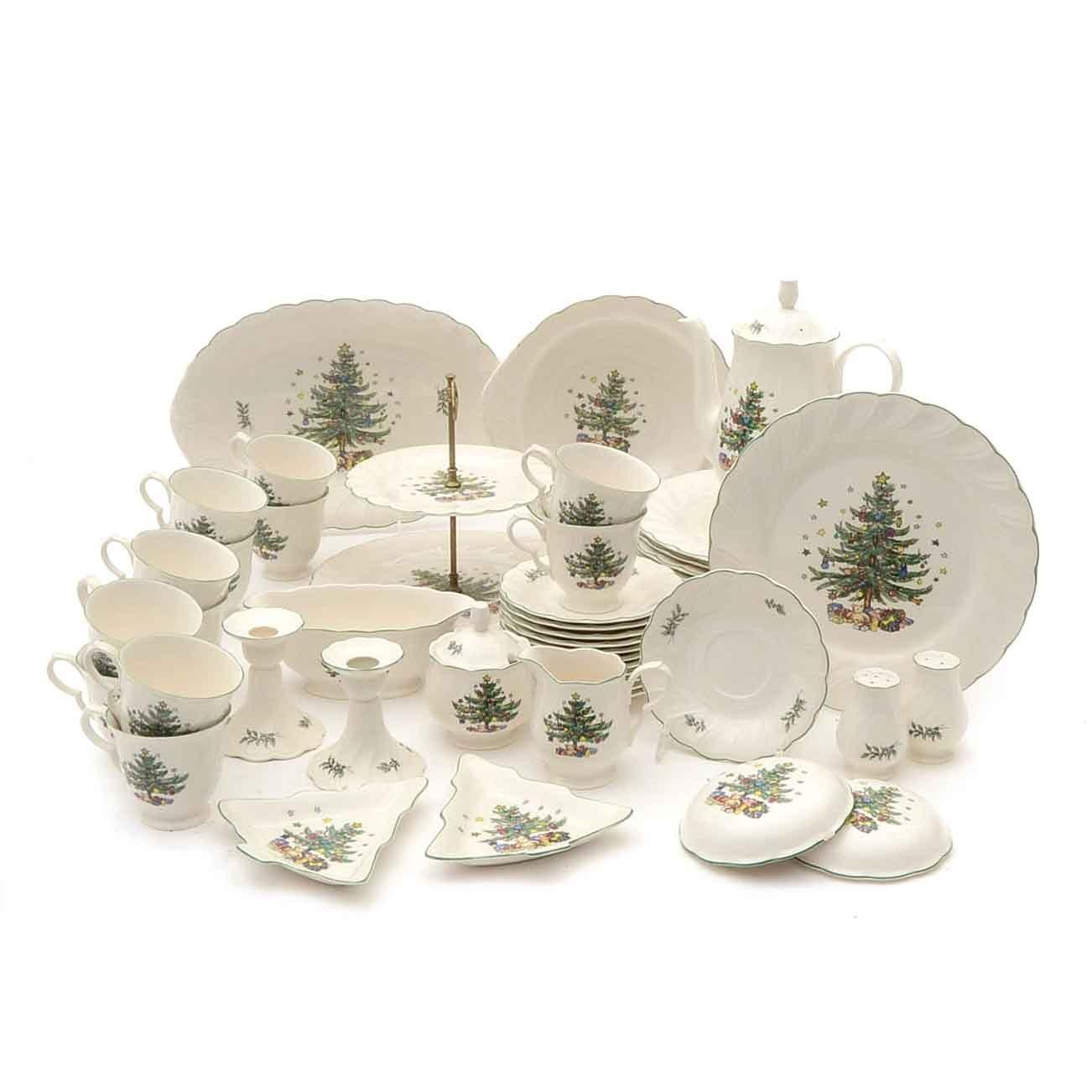 Collection of Nikko Christmas China