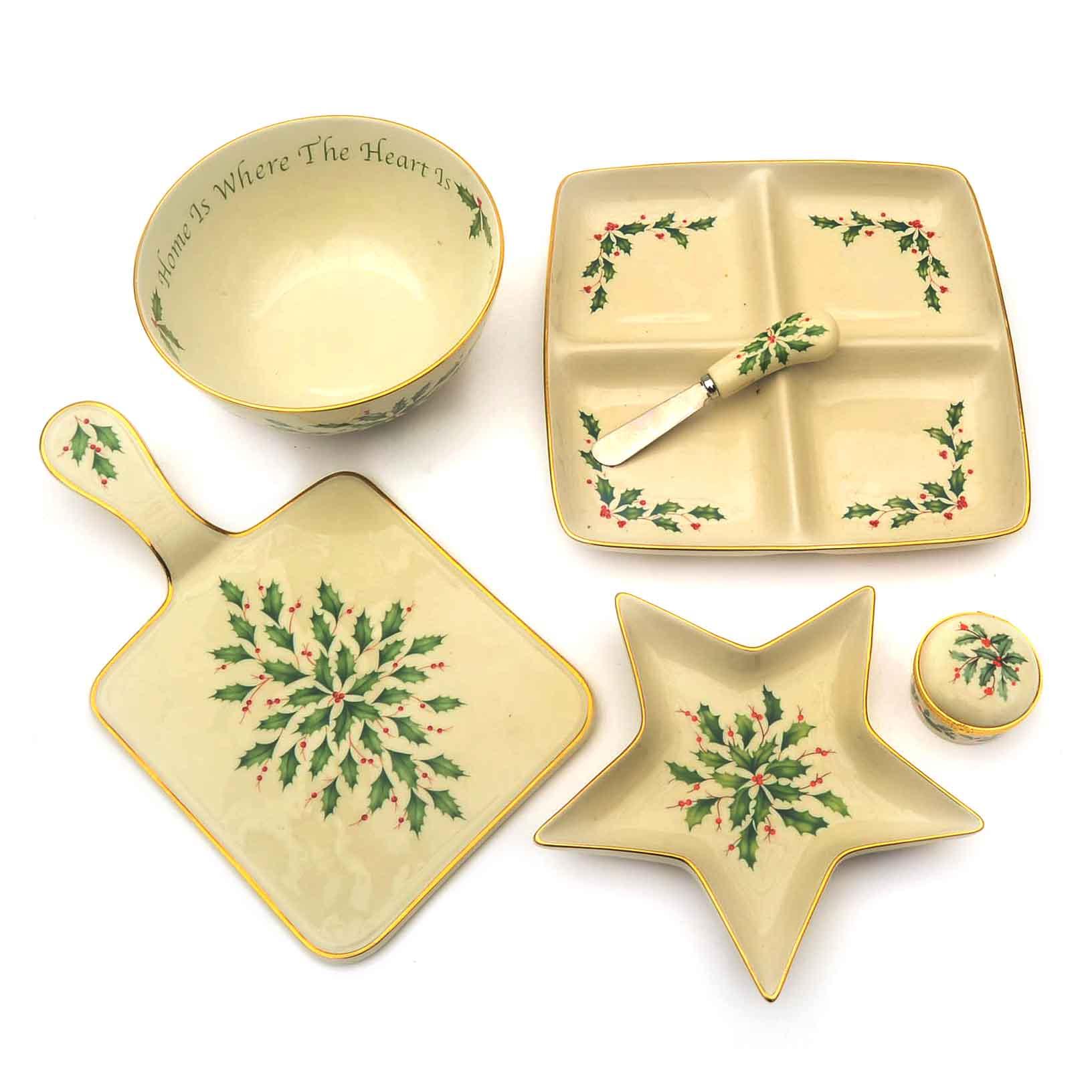 Collection Of Lenox Christmas China