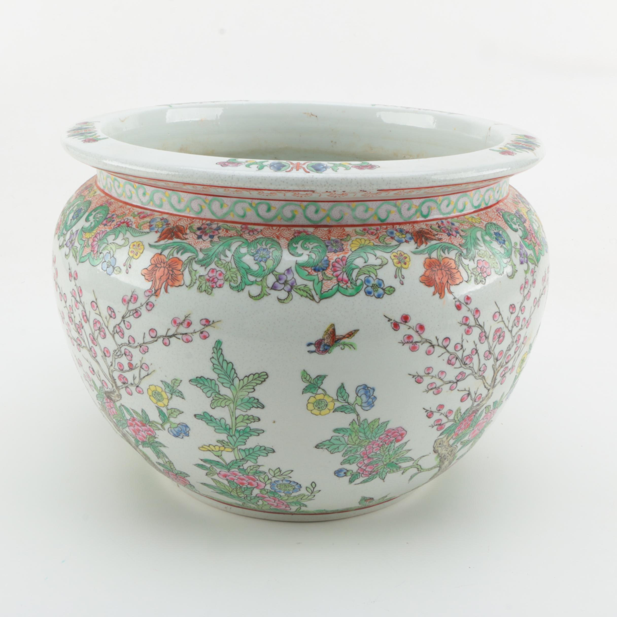 Chinese Hand Decorated Porcelain Jardiniere