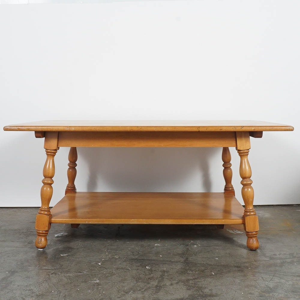 Mid-Century Maple Coffee Table by Willett