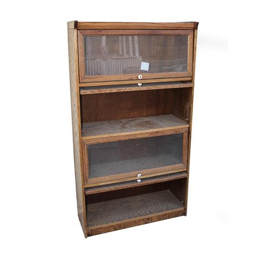 Vintage Barrister Style Oak Cabinet
