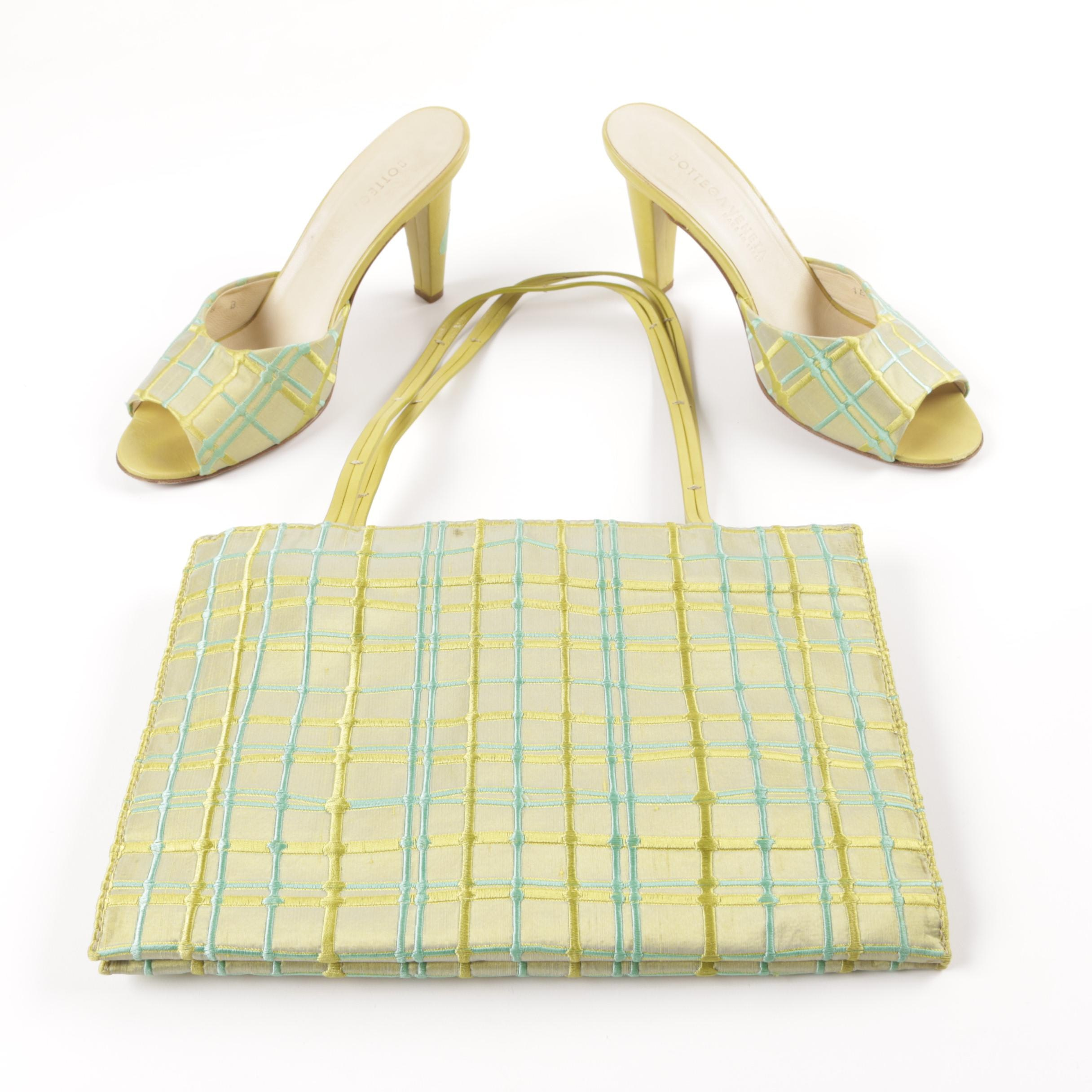 Bottega Veneta Matching Embroidered Bag and Heels
