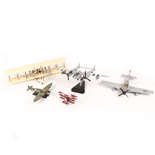 """Metal Toy Airplanes Including """"Red Baron"""""""